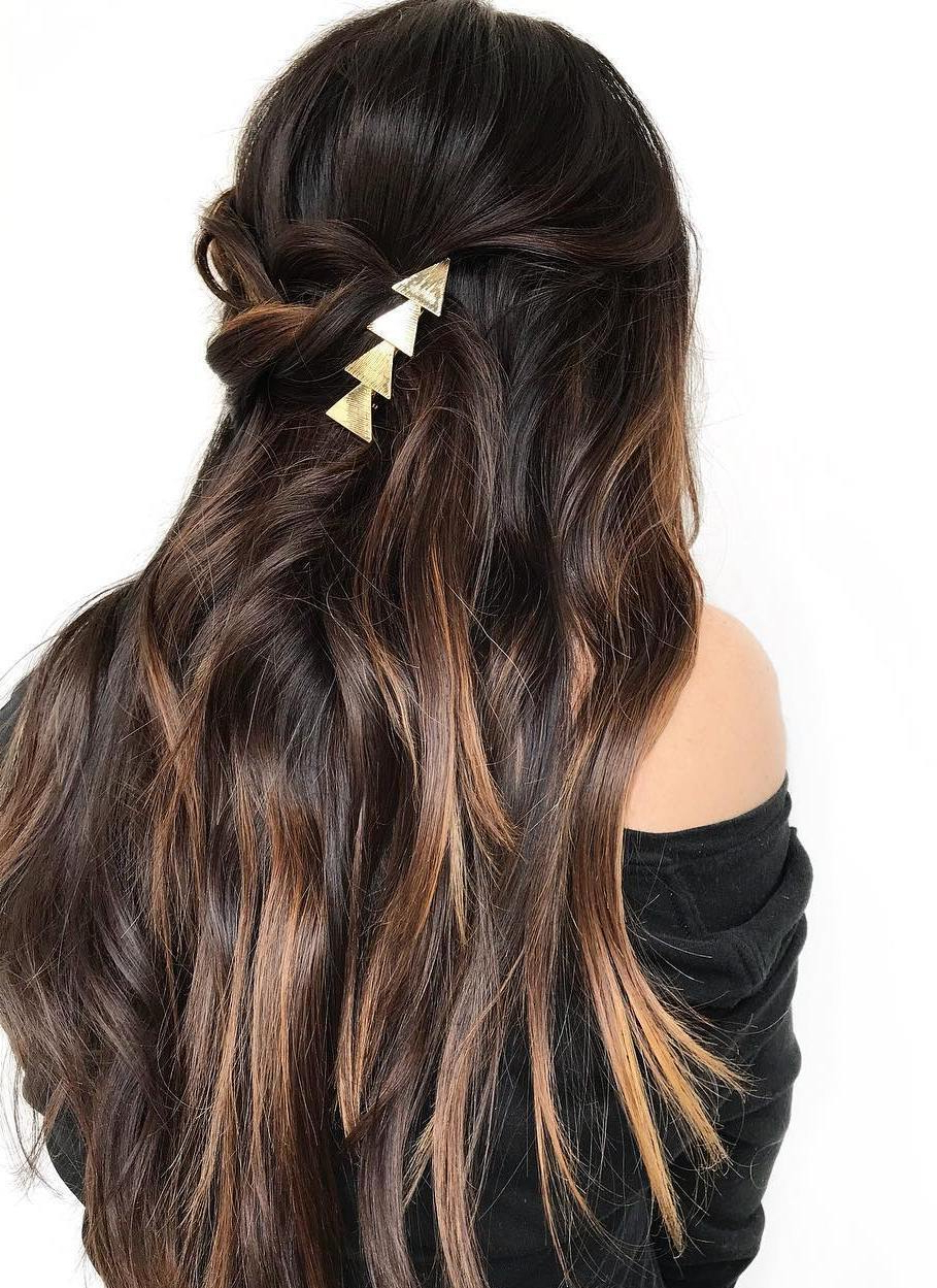 Fashionable Shiny Brunette Shag Haircuts For Long Hair In 20 Stunning Long Dark Brown Hair Cuts And Styles (Gallery 12 of 20)