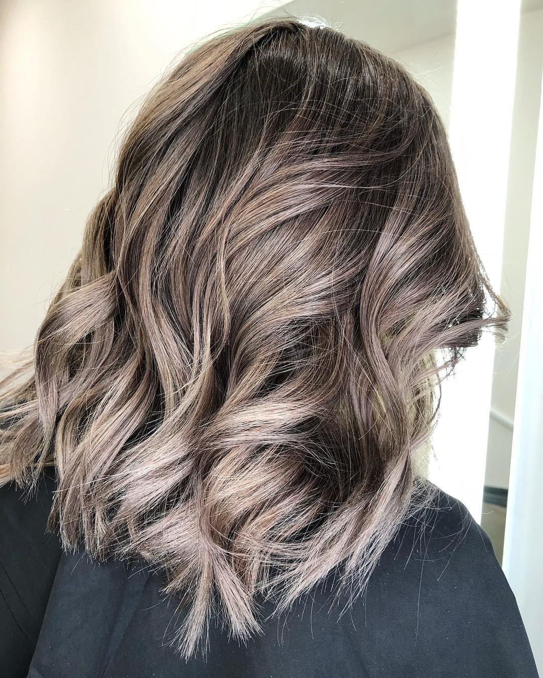 Fashionable Textured Shag Haircuts With Warm Brown Balayage In 10 Balayage Hair Styles For Medium Length Hair (View 7 of 20)