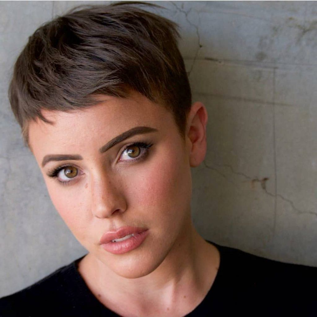 Fashionable Wispy Straight Finely Chopped Brunette Haircuts Regarding 35 Best Pixie Cut Hairstyles For 2019 You Will Want To See (View 9 of 20)