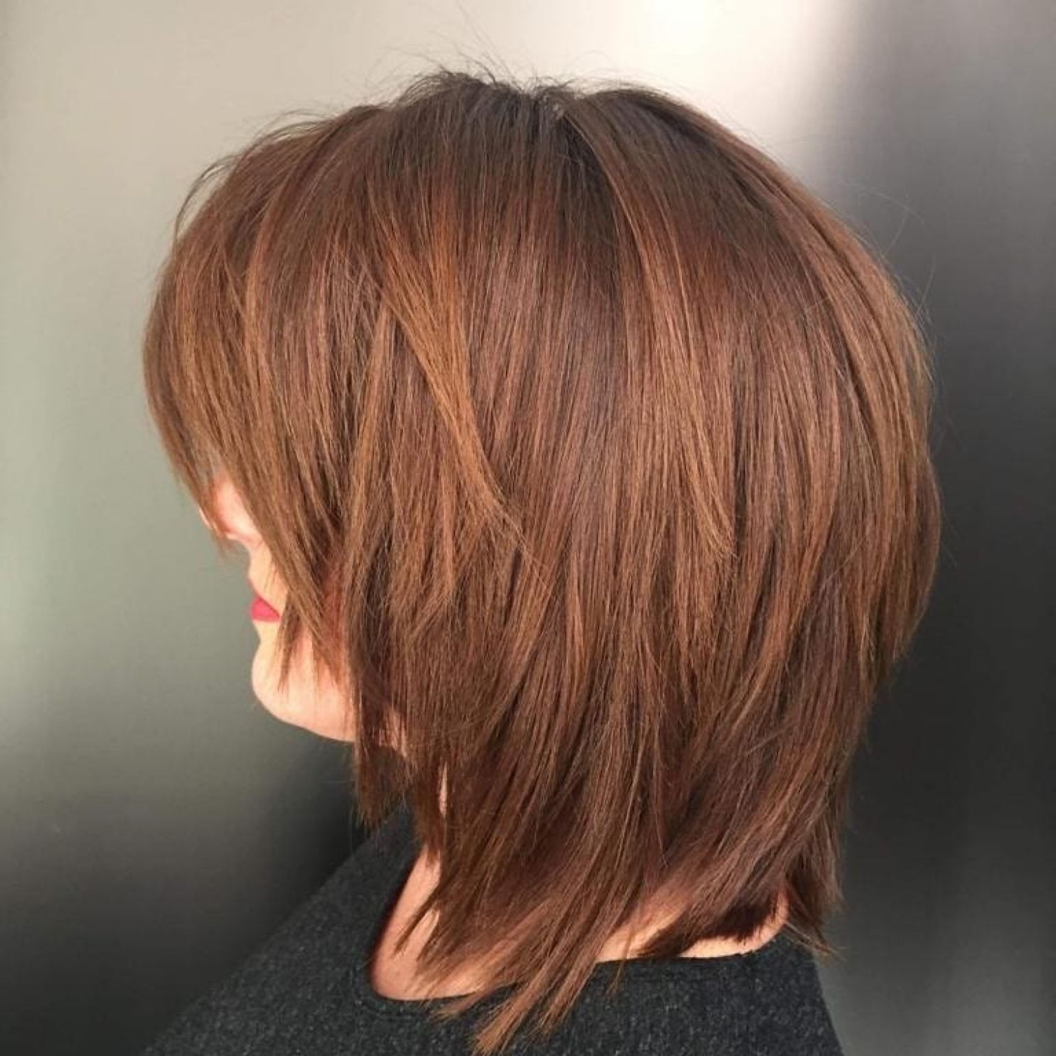 Favorite Chestnut Brown Choppy Lob Hairstyles For Pin On Long Shags (View 9 of 20)