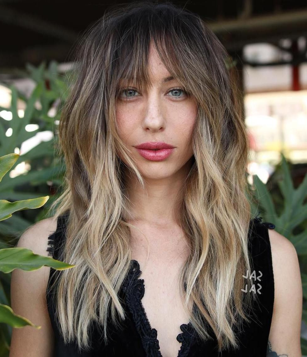 Favorite Long Layered Shag Hairstyles With Balayage Intended For 60 Lovely Long Shag Haircuts For Effortless Stylish Looks (View 8 of 20)