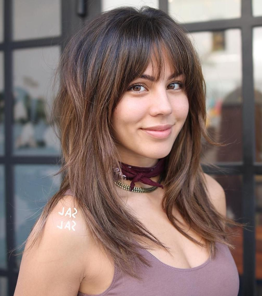 Favorite Medium To Long Choppy Haircuts With Bangs Within 60 Lovely Long Shag Haircuts For Effortless Stylish Looks In (View 5 of 20)
