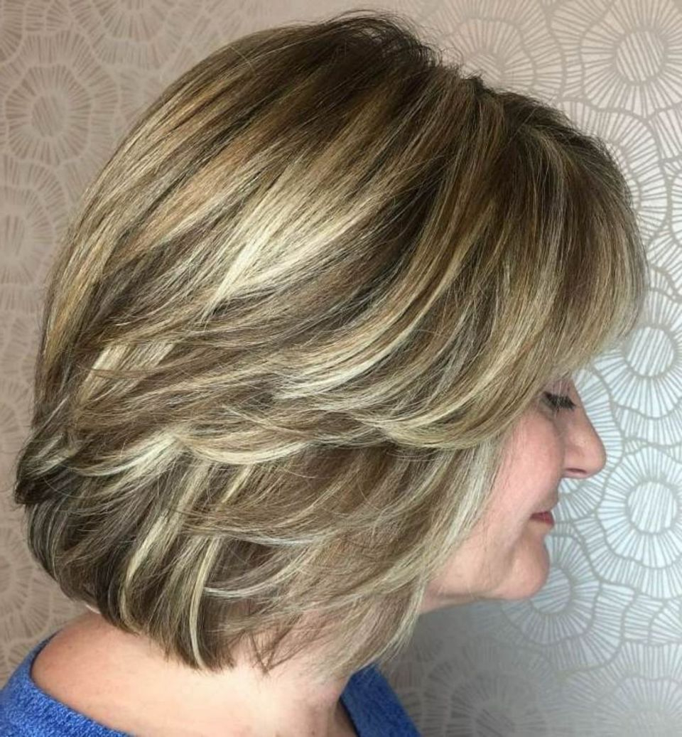 Favorite Mid Length Sliced Bronde Haircuts Intended For Pin On Hairstyles (View 5 of 20)