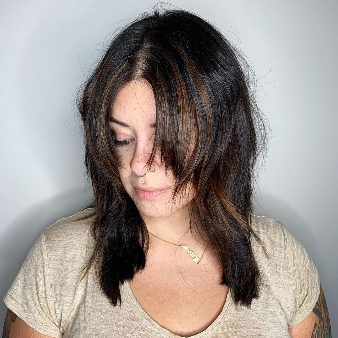 Favorite Shiny Black Haircuts With Flicked Layers For 40 Medium Length Hairstyles For Thick Hair ⋆ Palau Oceans (Gallery 9 of 20)
