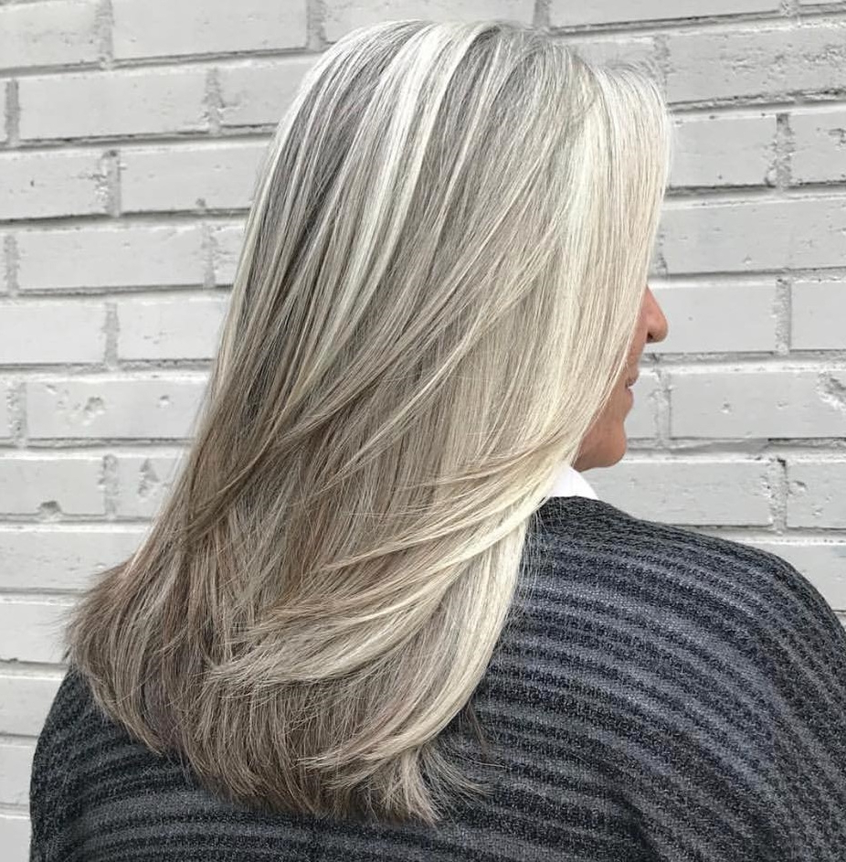 Favorite Silver White Wispy Hairstyles In 60 Trendiest Hairstyles And Haircuts For Women Over 50 In 2019 (Gallery 3 of 20)