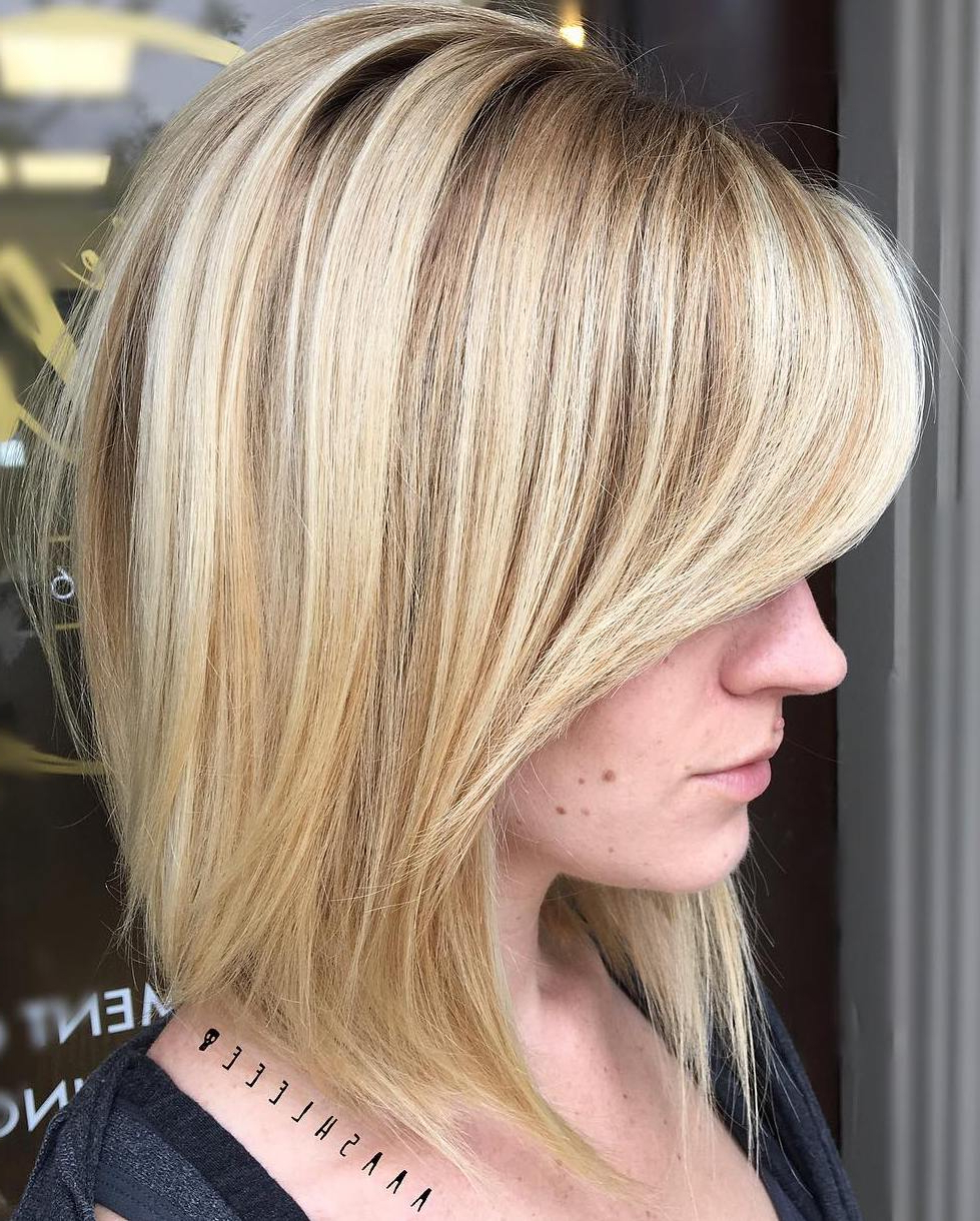 Find Your Best Bob Haircut For 2019 For Current Honey Bronde Shaggy Hairstyles With Bangs (View 10 of 20)