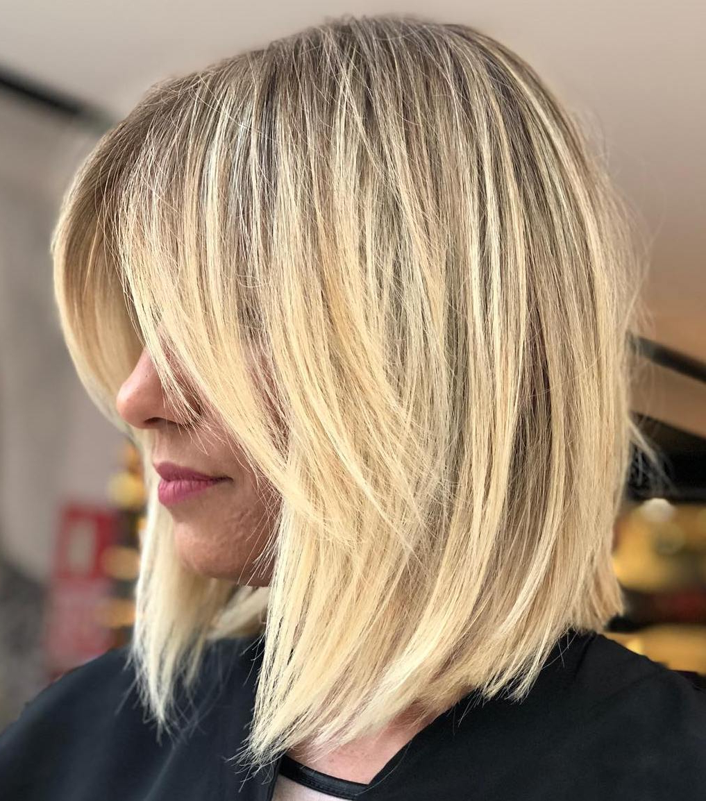 Find Your Best Bob Haircut For 2019 Intended For 2017 Blonde Lob Hairstyles With Disconnected Jagged Layers (View 11 of 20)