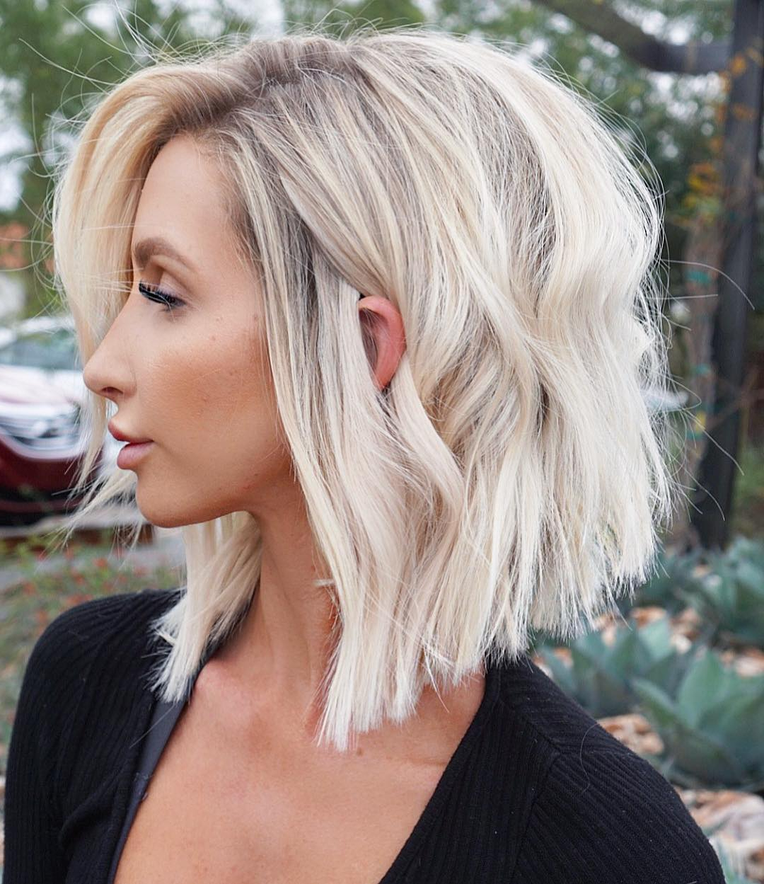 Find Your Best Bob Haircut For 2019 Intended For Feathered Haircuts With Angled Bangs (View 10 of 20)