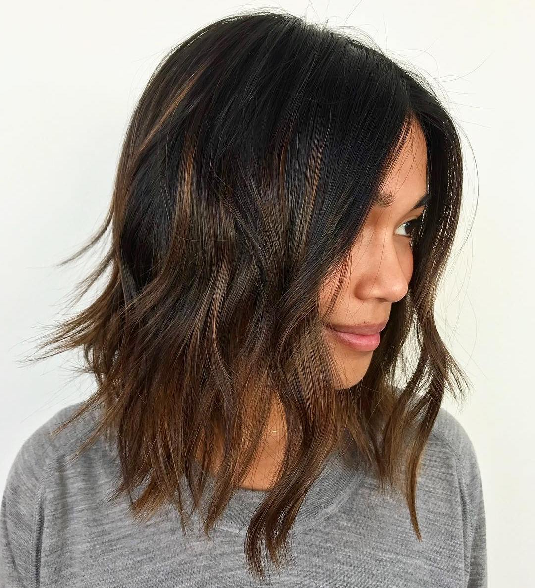 Find Your Best Bob Haircut For 2019 Intended For Most Popular Disconnected Brown Shag Long Hairstyles With Highlights (View 12 of 20)