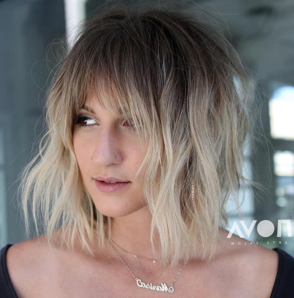 Find Your Best Bob Haircut For 2019 Pertaining To Shaggy Blonde Bob Hairstyles With Bangs (View 15 of 20)