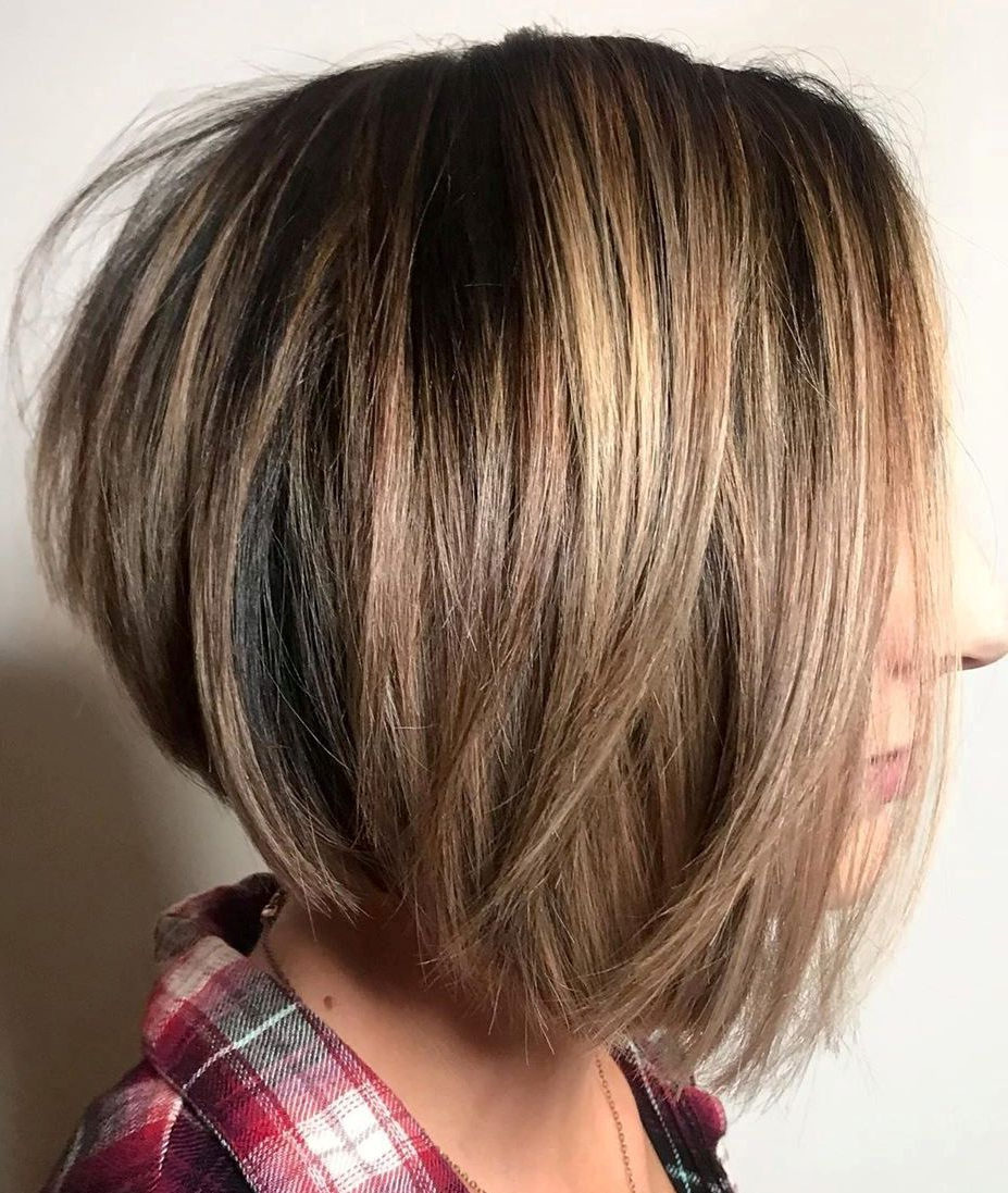 Find Your Best Bob Haircut For 2019 Regarding Piece Y Golden Bob Hairstyles With Silver Highlights (View 12 of 20)