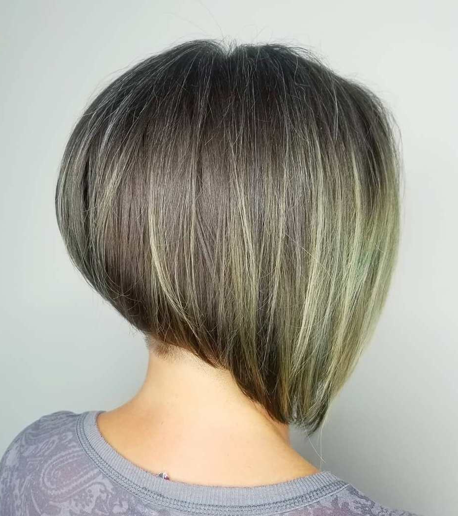 Find Your Best Bob Haircut For 2019 Throughout Piece Y Golden Bob Hairstyles With Silver Highlights (View 15 of 20)