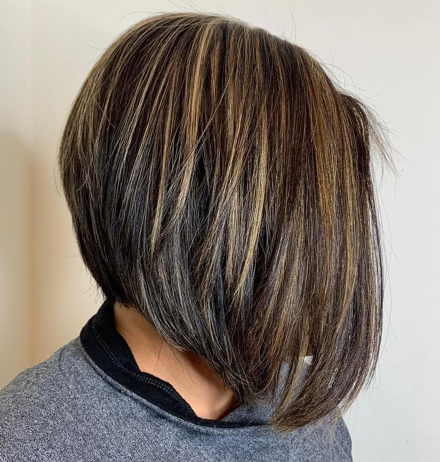 Find Your Best Bob Haircut For 2019 Throughout Piece Y Golden Bob Hairstyles With Silver Highlights (View 6 of 20)
