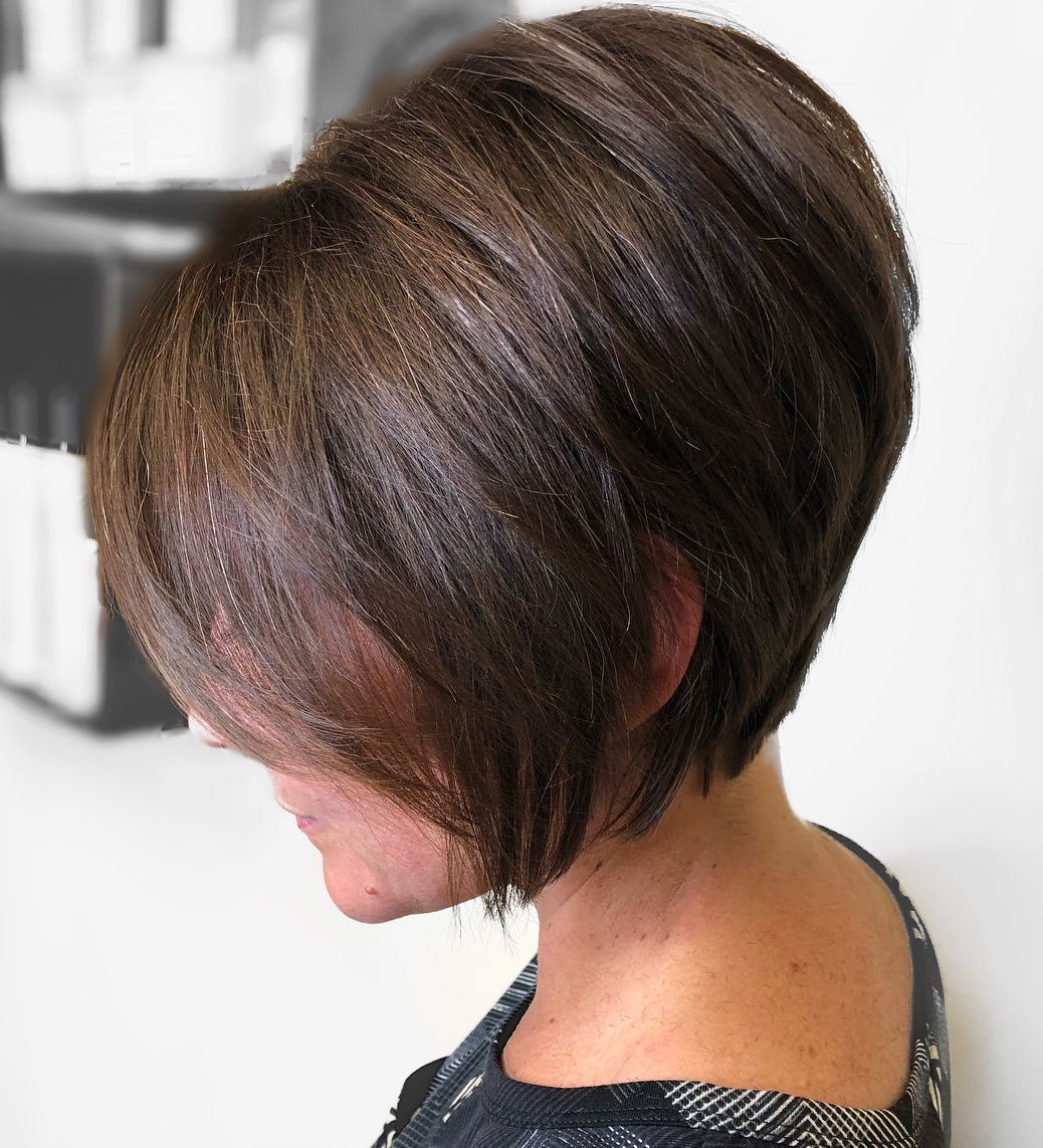 Find Your Best Bob Haircut For 2019 With Tapered Shaggy Chocolate Brown Bob Hairstyles (Gallery 3 of 20)