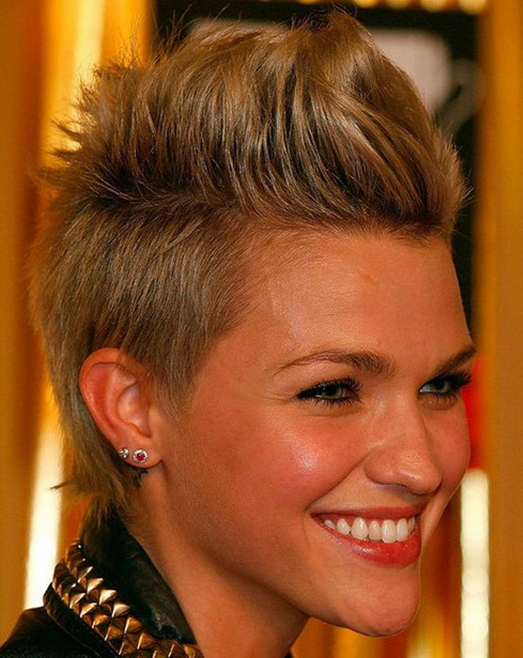 Funky Short Hairstyles For Round Faces — Classic Style : The Throughout Classic Asymmetrical Hairstyles For Round Face Types (Gallery 11 of 20)