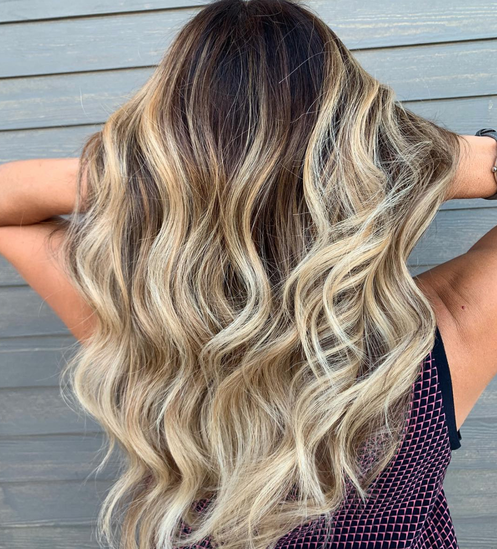 Glamour Inside Newest Longer Textured Haircuts With Sun Kissed Balayage (View 14 of 20)