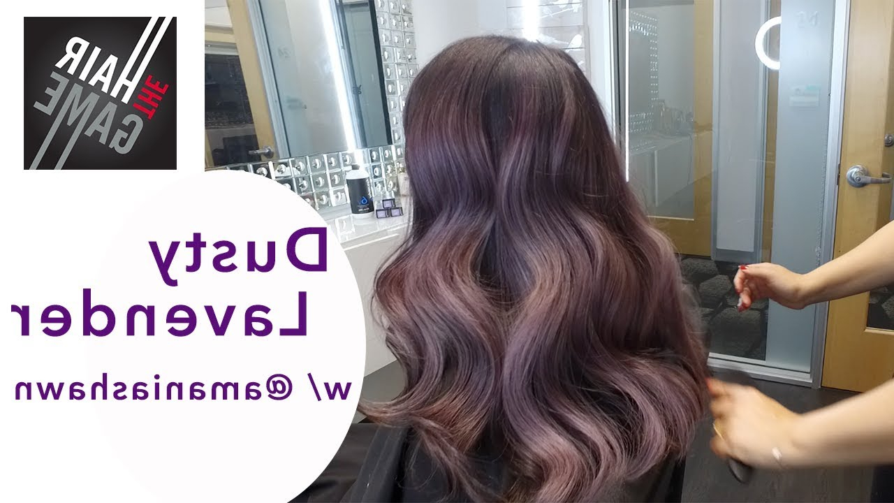 Guy Tang Mydentity Dusty Lavender W/ @amaniashawn Within Dusty Lavender Short Shag Haircuts (View 9 of 20)