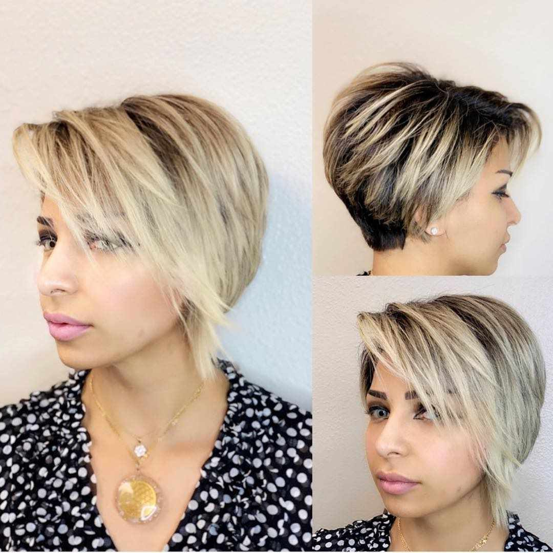 Haar Modelle 2019 Panosundaki Pin With Bob Hairstyles With Contrasting Highlights (View 11 of 20)