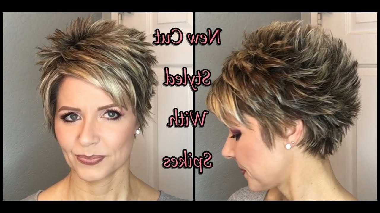 Hair Tutorial: My New Cut – Spiked Style! Throughout Messy Spiky Pixie Haircuts With Asymmetrical Bangs (View 7 of 20)