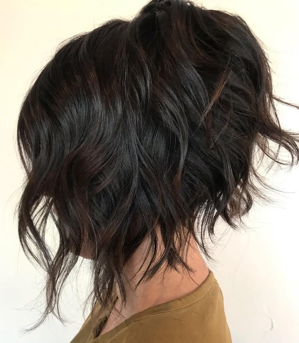 Hair With Most Recently Released Brunette Wavy Razored Shag Haircuts (View 8 of 20)