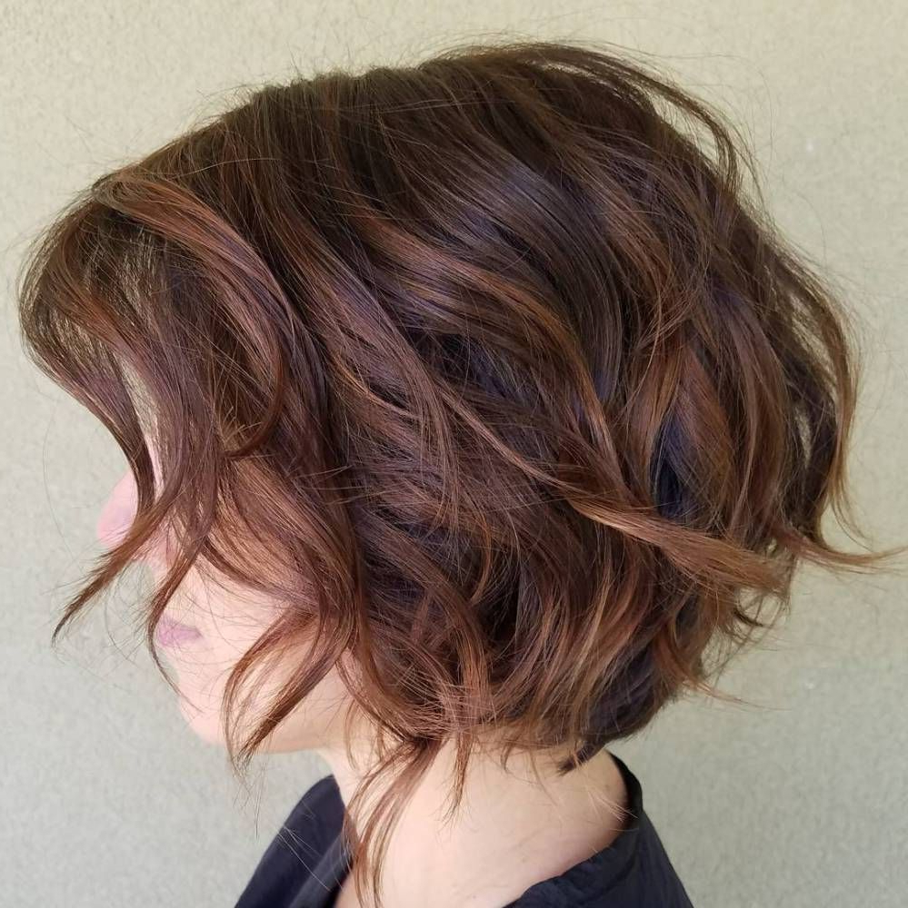 Hair With Preferred Chestnut Brown Choppy Lob Hairstyles (View 10 of 20)