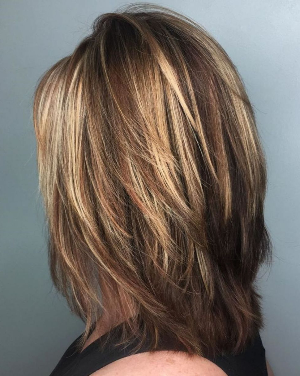 Hairstyles : 20 Ideas Of Bob Haircuts With Symmetrical Throughout Popular Medium Haircuts With Chunky Swoopy Layers (View 9 of 20)