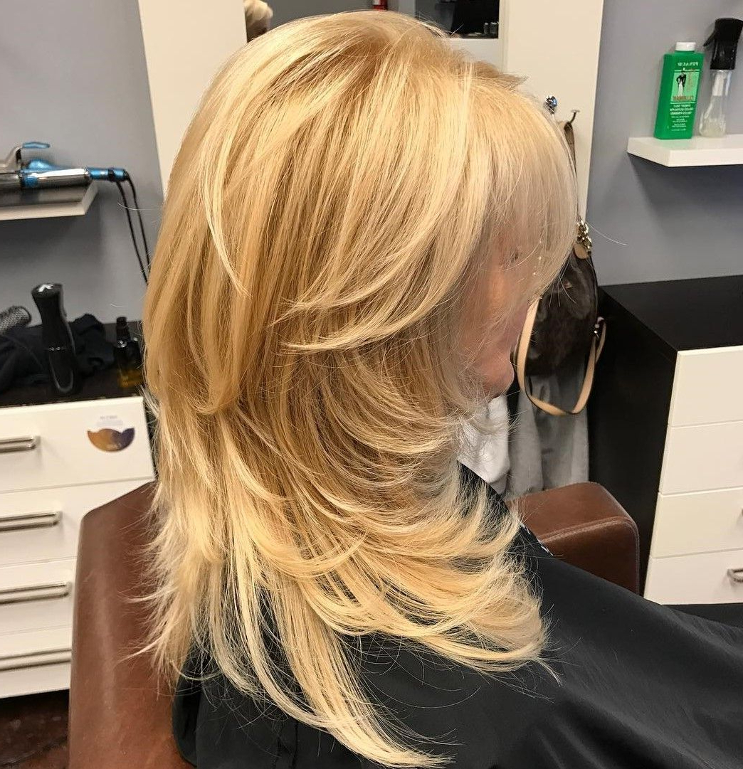 Featured Photo of Lovely Golden Blonde Haircuts With Swoopy Layers