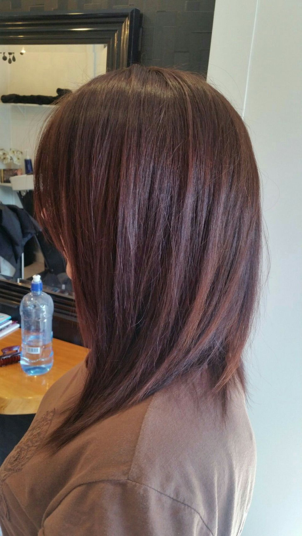 Hairstyles : Aline Textured Long Bob Hair Pinterest Styles With A Line Haircuts For A Round Face (View 5 of 20)