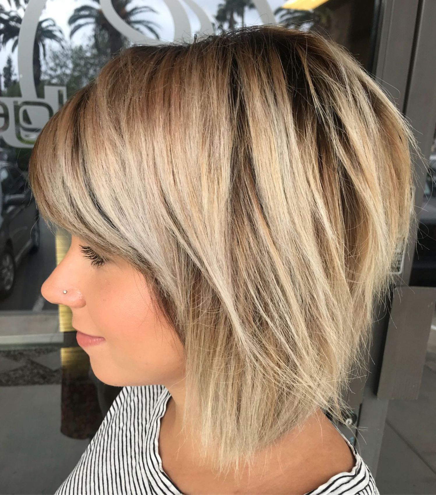 Hairstyles : Razored Blonde Bob Delightful 60 Beautiful And Pertaining To 2018 Razored Gray Bob Hairstyles With Bangs (View 13 of 20)