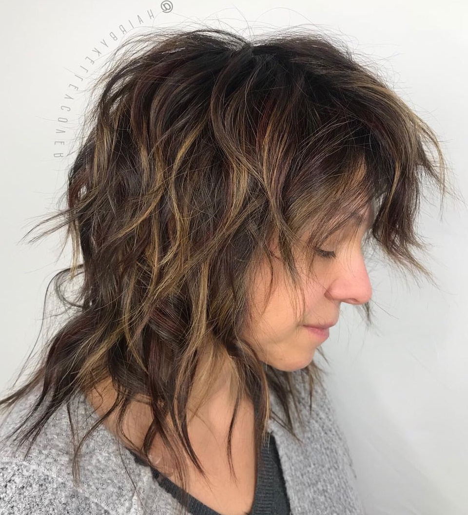 How To Nail Layered Hair In 2019: Full Guide To Lengths And In Widely Used Long Shag Haircuts With Extreme Layers (View 11 of 20)