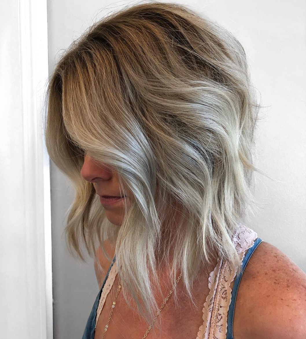 How To Pull Off Medium Length Haircuts And Hairstyles In 2019 For 2017 Thick Feathered Blonde Lob Hairstyles (View 17 of 20)