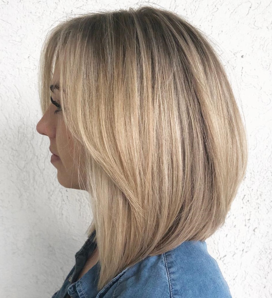 How To Pull Off Medium Length Haircuts And Hairstyles In 2019 In Well Liked Thick Feathered Blonde Lob Hairstyles (View 11 of 20)