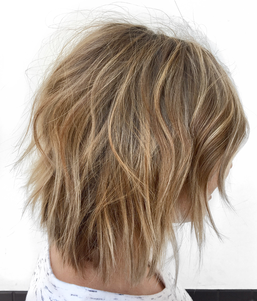 How To Pull Off Medium Length Haircuts And Hairstyles In 2019 Inside Bronde Bob Shag Haircuts With Short Back (View 12 of 20)