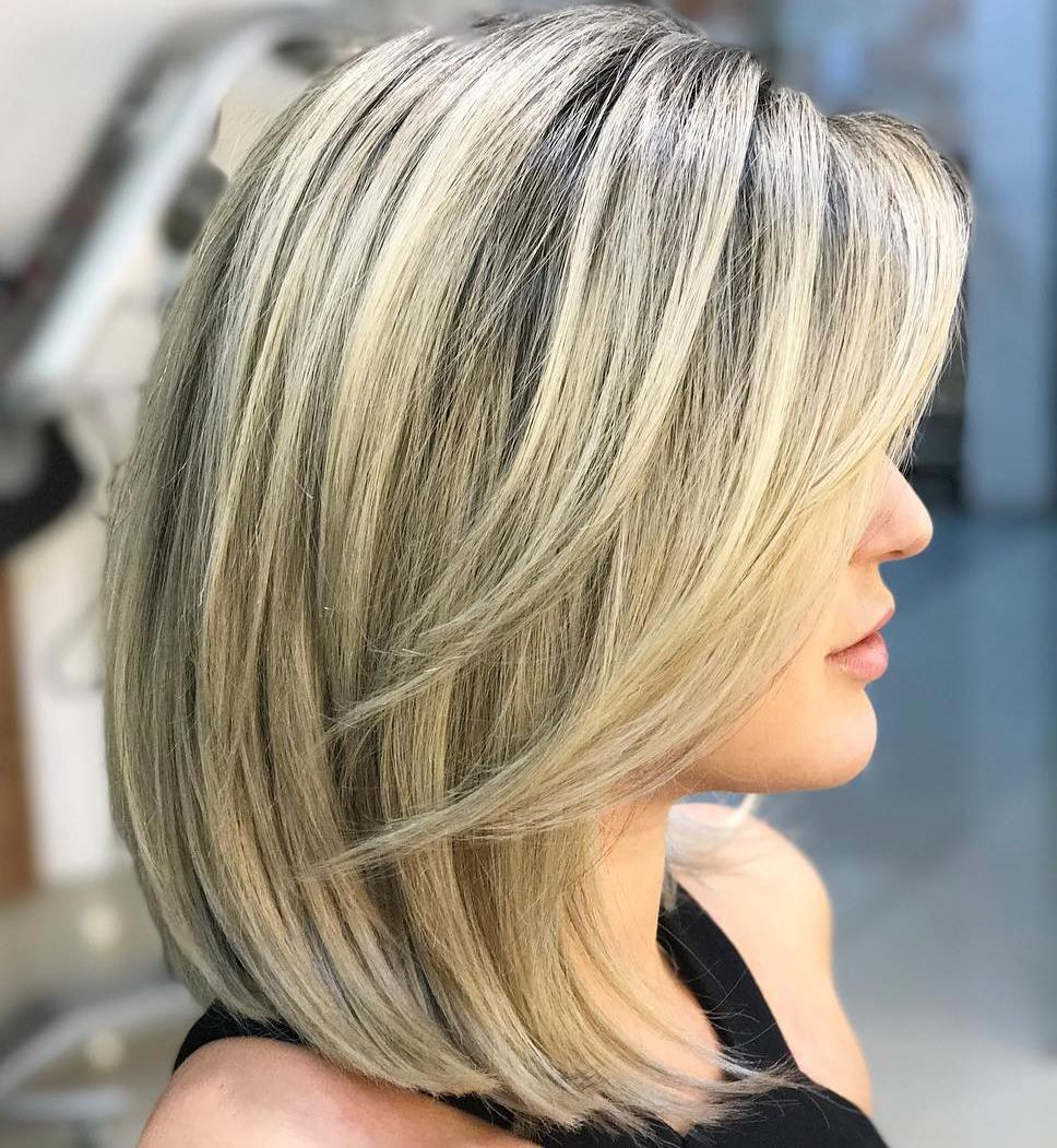 How To Pull Off Medium Length Haircuts And Hairstyles In 2019 Inside Most Recently Released Lovely Golden Blonde Haircuts With Swoopy Layers (View 13 of 20)