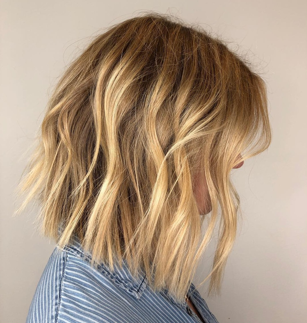 How To Pull Off Medium Length Haircuts And Hairstyles In 2019 Intended For Choppy Blonde Bob Hairstyles With Messy Waves (View 16 of 20)