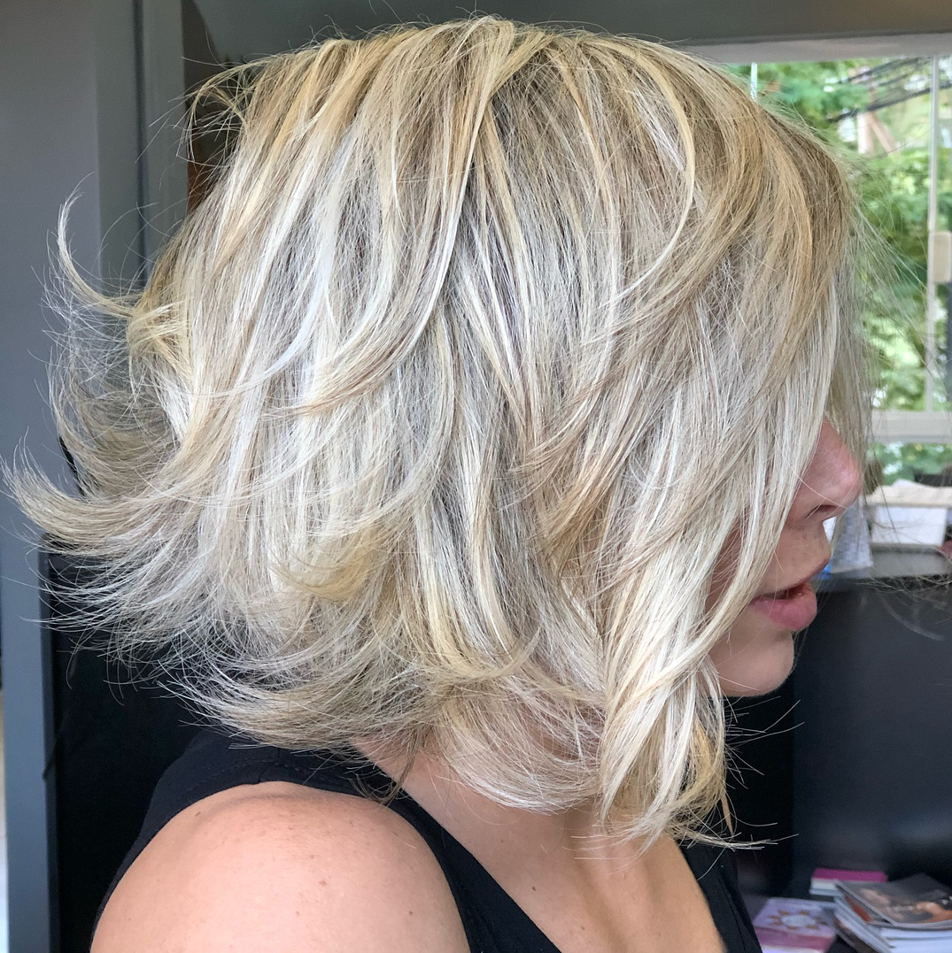 How To Pull Off Medium Length Haircuts And Hairstyles In 2019 With 2018 Thick Feathered Blonde Lob Hairstyles (View 12 of 20)