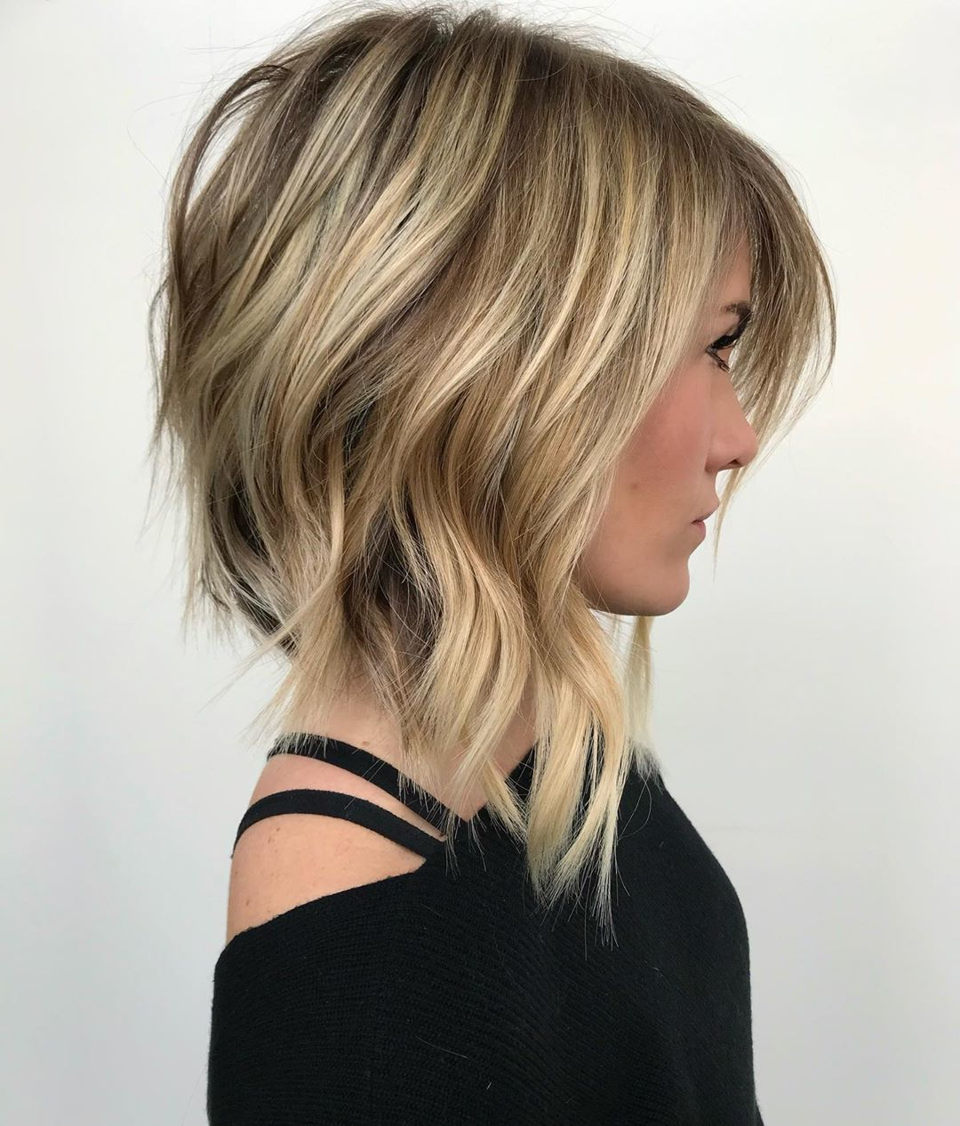 How To Style Your Long Bob Inside Most Recent Shag Haircuts With Blunt Ends And Angled Layers (View 11 of 20)