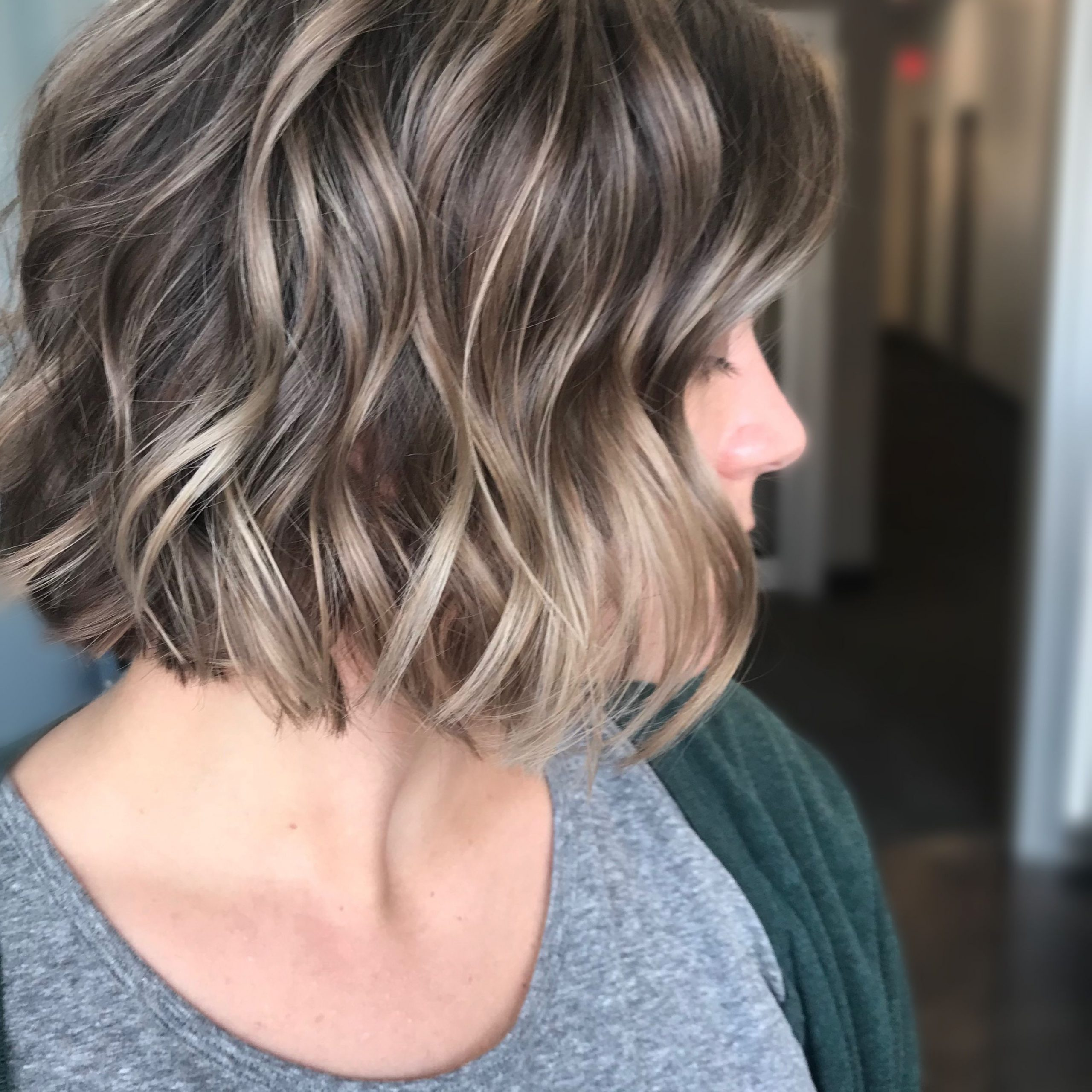 Keeping It Modern With This Blunt Bob Haircut And Some Within Balayaged Choppy Bob Haircuts (View 10 of 20)