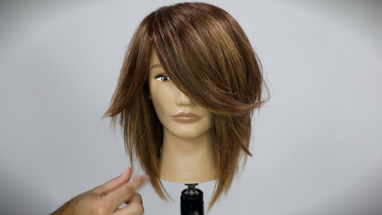 Latest Forward Swept Straight Shag Haircuts Throughout Shaggy Long Bob Haircut Tutorial (View 12 of 20)