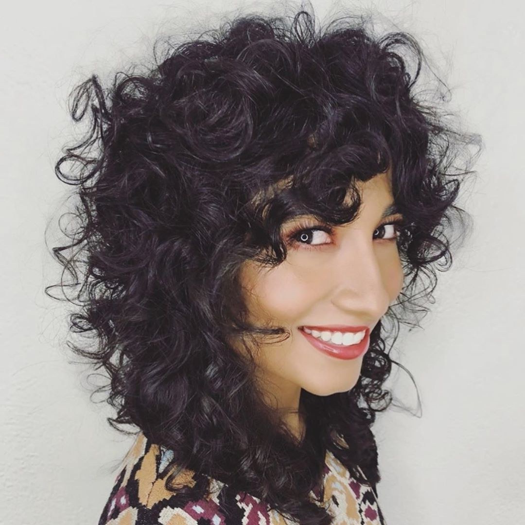 Latest Long Curly Shag Hairstyles With Bangs Pertaining To 14 Cute Shag Haircut Ideas For Any Length — Shag Hair Trend (View 8 of 20)