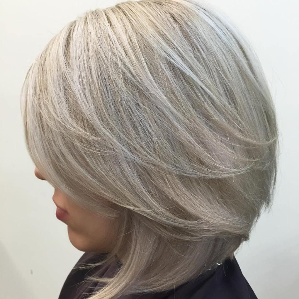 Latest Medium Silver Layers Hairstyles Pertaining To 80 Sensational Medium Length Haircuts For Thick Hair (View 13 of 20)