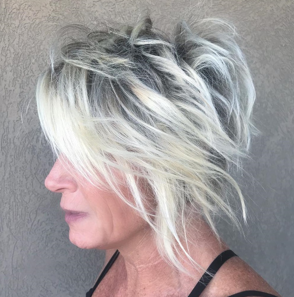 Latest Silver Shag Haircuts With Feathered Layers Pertaining To 60 Trendiest Hairstyles And Haircuts For Women Over 50 In (View 6 of 20)