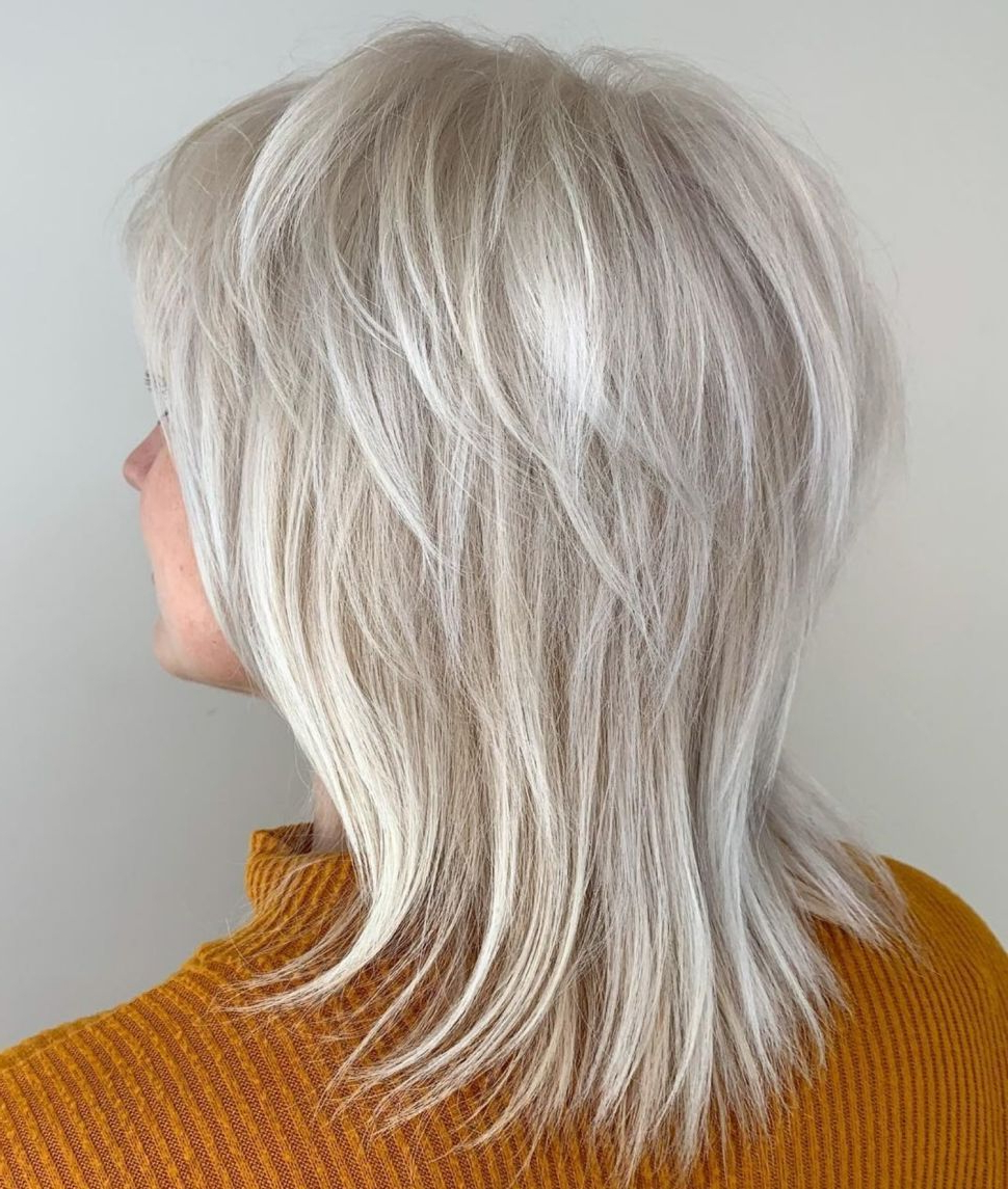 Featured Photo of Silver Shag Haircuts With Feathered Layers