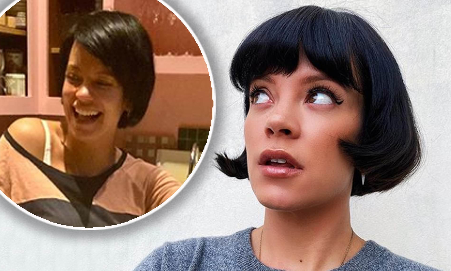 Lily Allen Shares Photos Of 60s Bob Haircut On Instagram Pertaining To Sunset Inspired Pixie Bob Hairstyles With Nape Undercut (View 12 of 20)