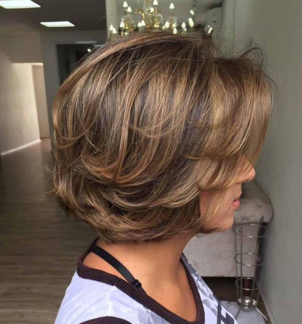 Long Layered, Piecy Chunky Chin Length Bob! Love It! | Misc Throughout Jaw Length Choppy Bob Hairstyles With Bangs (View 14 of 20)