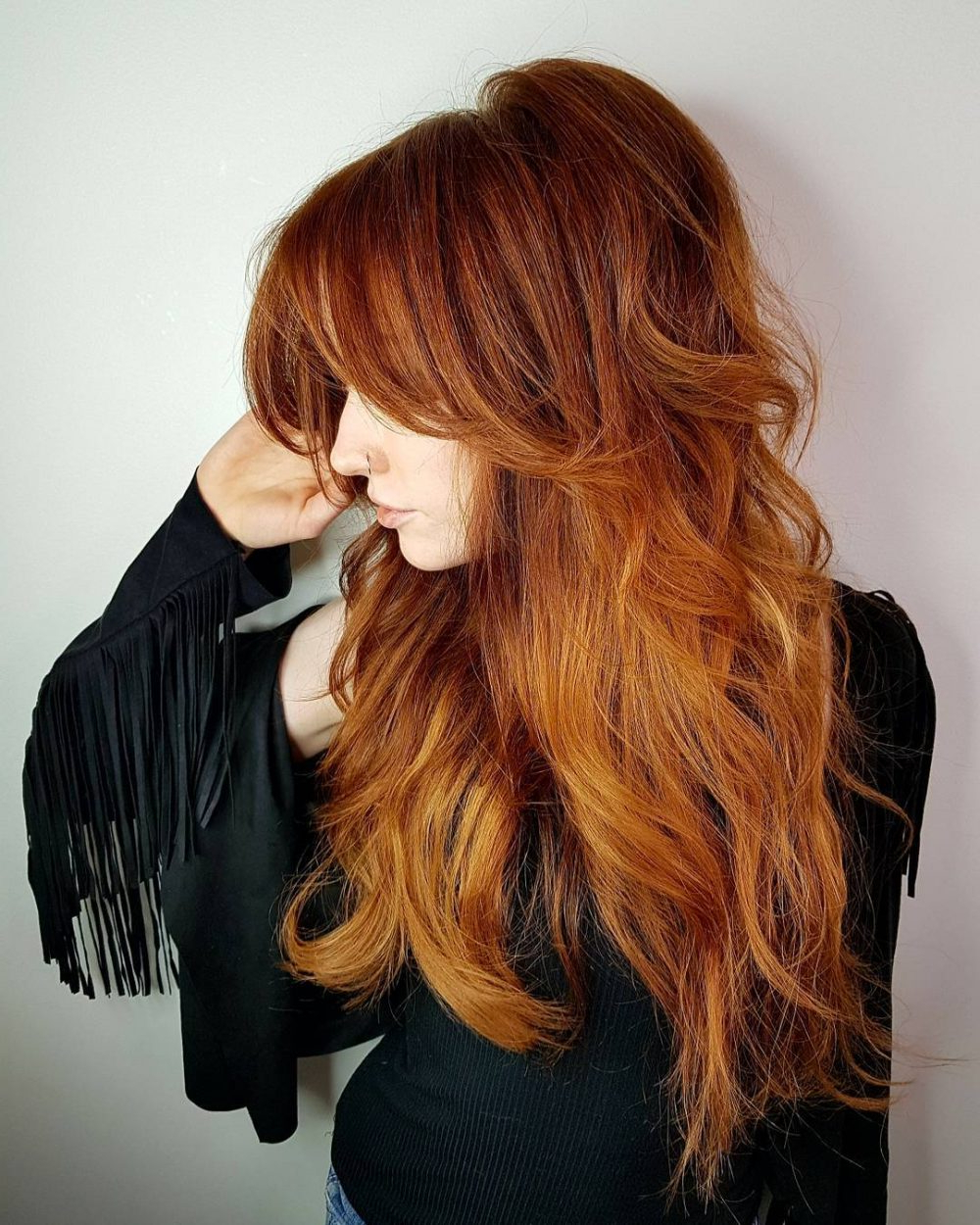 Long Shag Haircuts: 36 Examples For 2019 For Favorite Subtle Ombre Shag Haircuts (View 13 of 20)