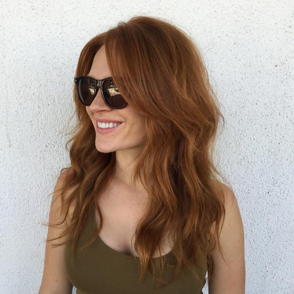 Long Shag Haircuts: 36 Examples For 2019 For Preferred Shiny Brunette Shag Haircuts For Long Hair (View 11 of 20)