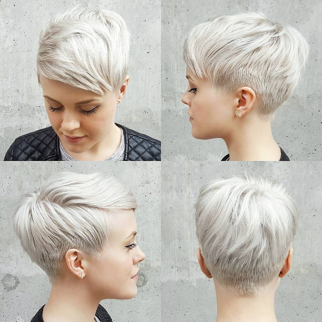 Lori (balzanolori8) On Pinterest Throughout Gray Pixie Haircuts With Messy Crown (View 13 of 20)