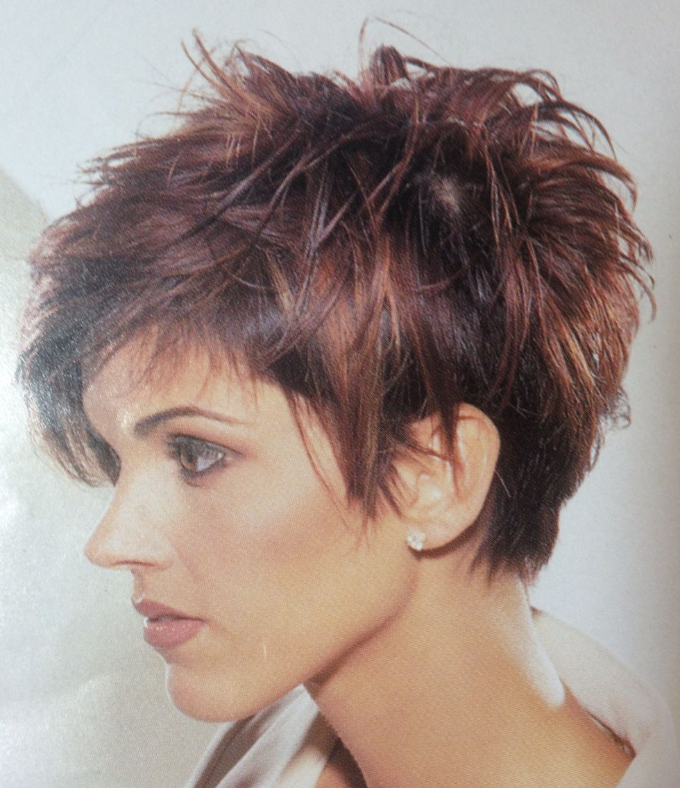 Love It! … | Pixie Haircut For Thick Hair, Haircut For Thick With Gray Pixie Haircuts With Messy Crown (View 6 of 20)