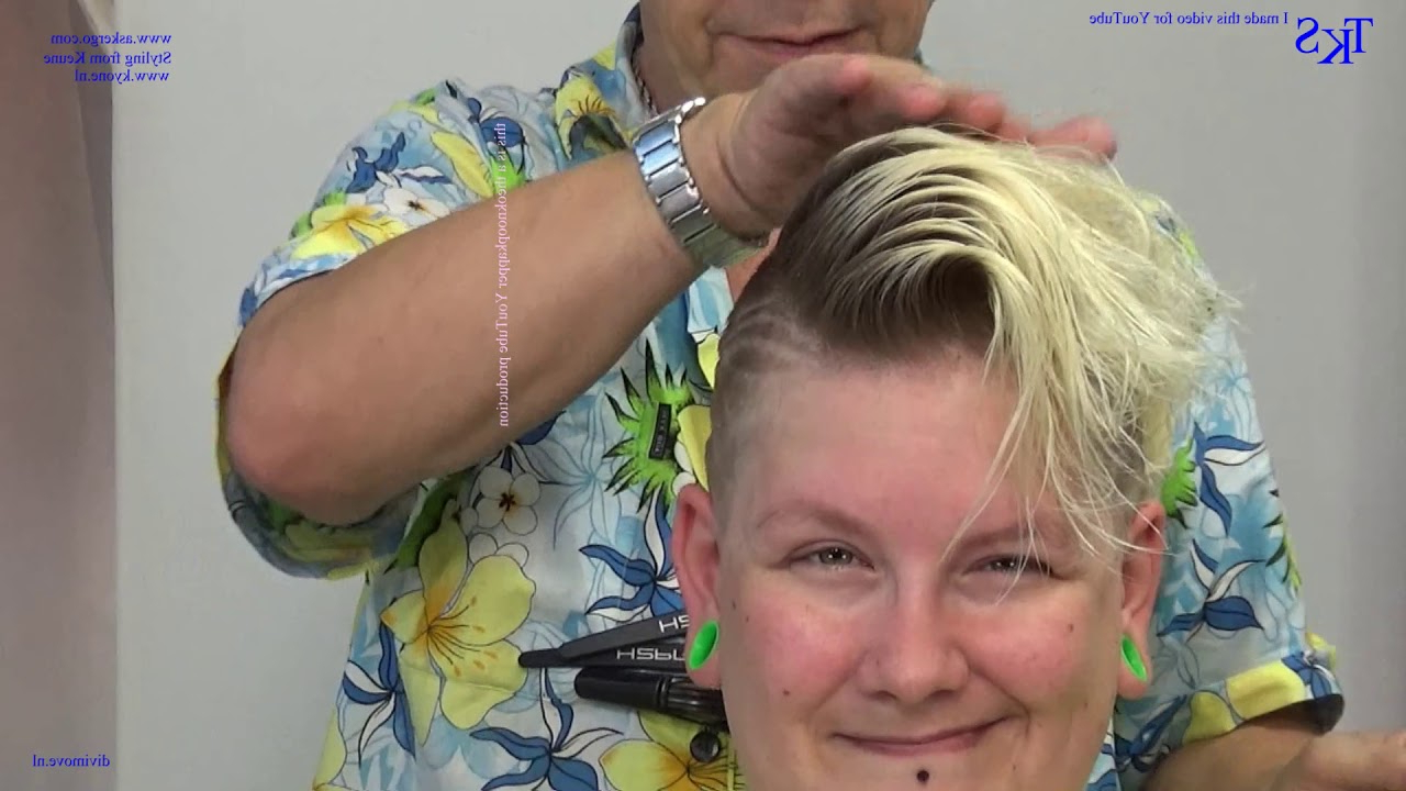 Make Something Off My Hair! Transparent Trend Colors* Joyce Cut And Color Tutorial Intended For Recent Sliced Platinum Blonde Bob Hairstyles (View 17 of 20)